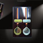 Placheta suport medalie MS2