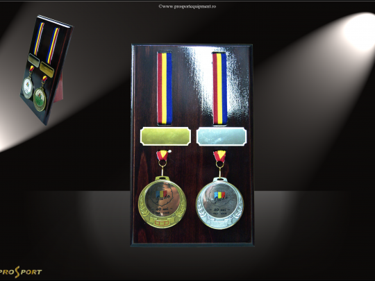 Placheta suport medalie MS2 pentru 2 medalii