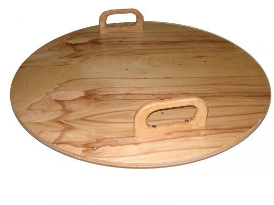 Disc echilibru cu manere din lemn natur