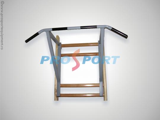 Bara de tractiuni produsa de PROSPORT ce poate fi atasata pe spalier sau direct pe perete