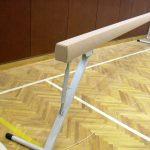 Barna de gimnastica dispusa in sala