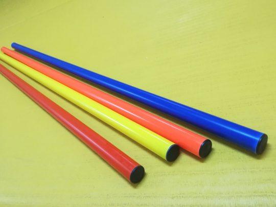 baston gimnastica PVC de diverse culori