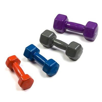 Gantere hexagonale din plastic variantele de greutati si culori