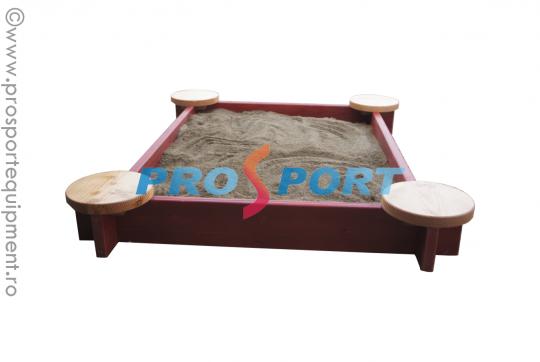 Groapa pentru nisip demontabila montata si cu nisip