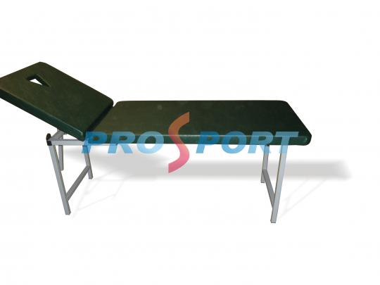 Pat masaj PRO-Masaj 3 cu tapiterie verde