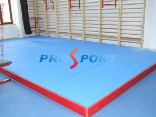 Podium pentru judo dispus in sala