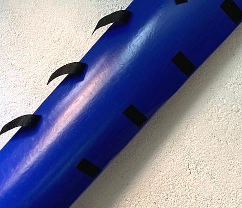 protectie pentru stalpi volei culoarea albastra