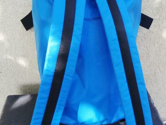 Rucsac arte martiale albastru interiorul cu bretele