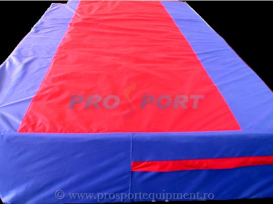 husa PTP pentru suprafata de aterizare pentru atletism albastru cu rosu