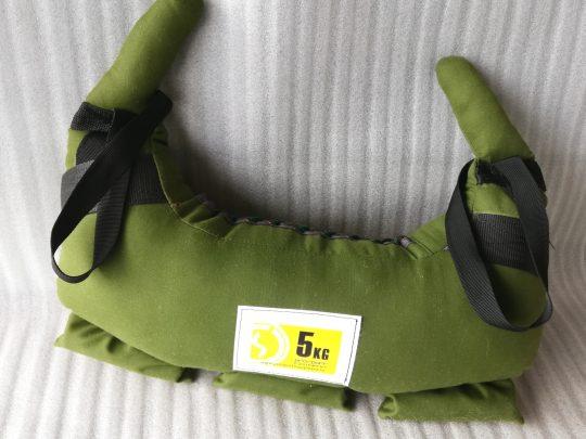 sac pentru lupte 5 kg verde