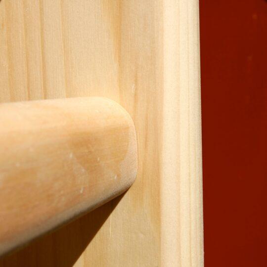 spalier pentru gimnastica detaliu cu sipca ovala