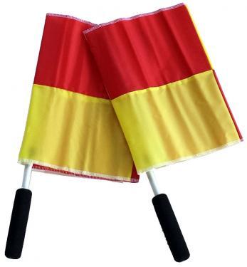 steag arbitru tusa galben cu rosu