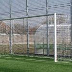 Poarta fotbal mobila aluminiu dispusa pe teren