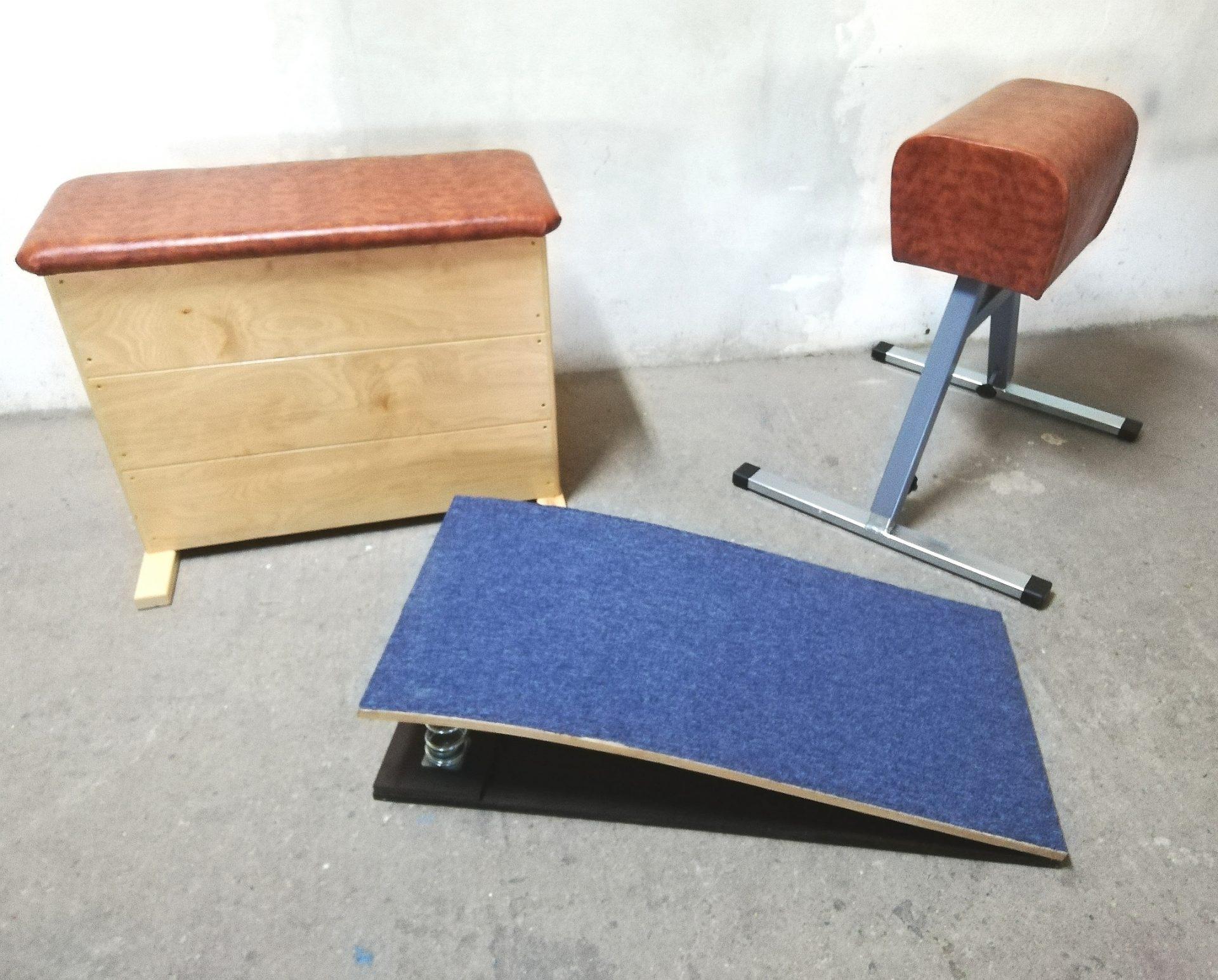 echipamente pentru educatie fizica: lada, capra, trambulina