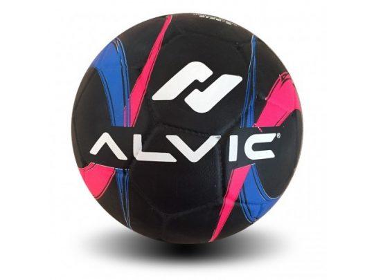 minge fotbal Alvic Street neagra cu design colorat