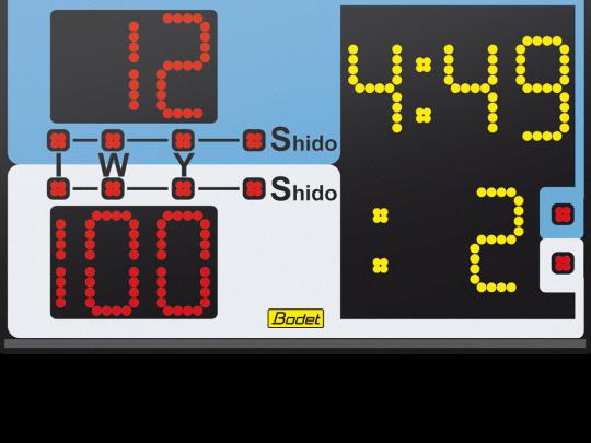 Tabela afisaj pentru judo cu scor