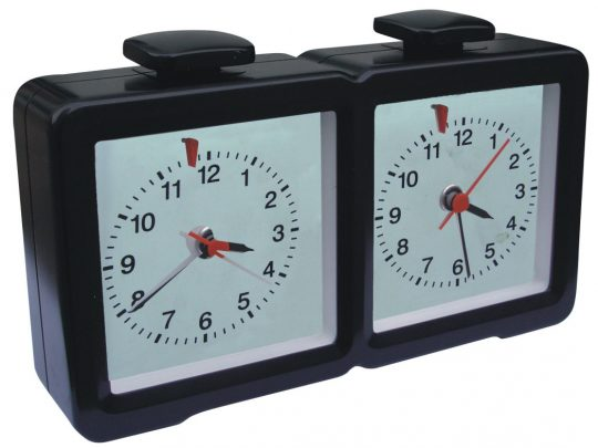 Cronometru analog pentru sah carcasa neagra