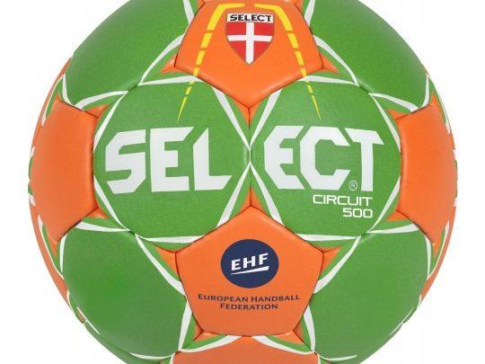 minge grea pentru handbal Select Circuit verde si portocaliu