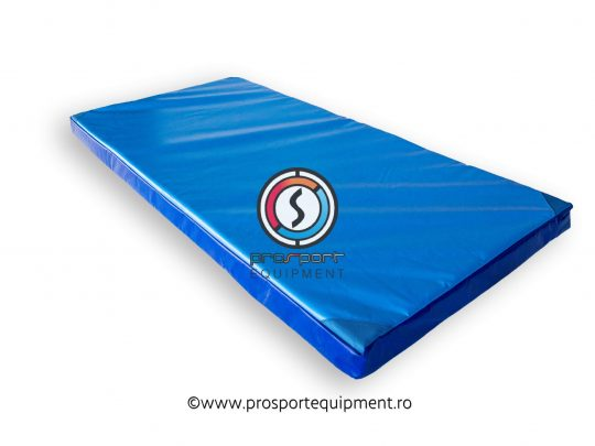 saltea gimnastica PRO cu husa culoarea albastra