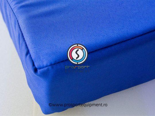 husa PTP pentru saltea gimnastica albastra, detaliu