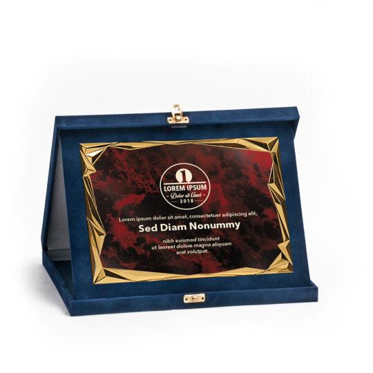 Cutia-placheta DP82 cu placa personalizata