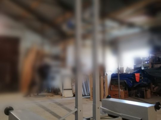 stalpi volei mobili prezentati in atelierul de productie