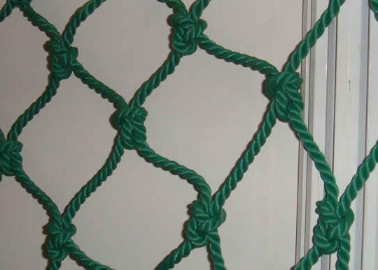 detaliu plasa protectie sala verde