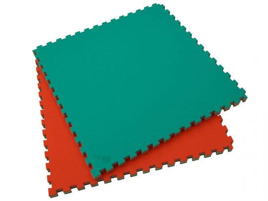 saltea judo puzzle ProGame IJF rosie si verde