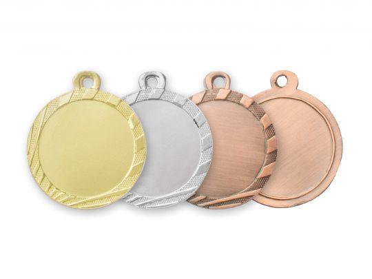 Medalia E308 in versiunile aur, argint, bronz