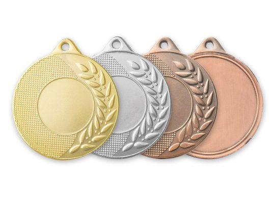 Medalia E568 versiunile aurie, argintie, bronz