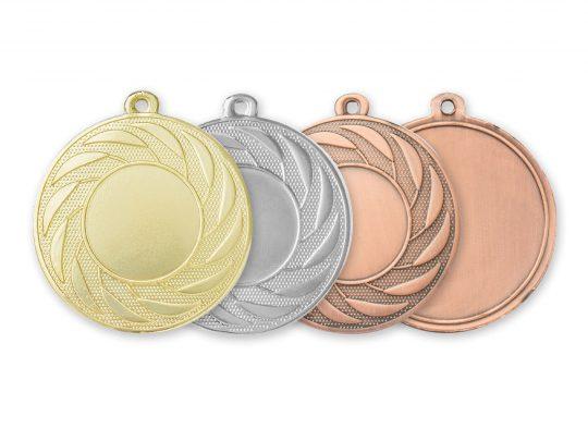 Medalia E569 versiunile aurie, argintie, bronz