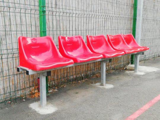 banca rezerve 5 locuri cu scaune rosii