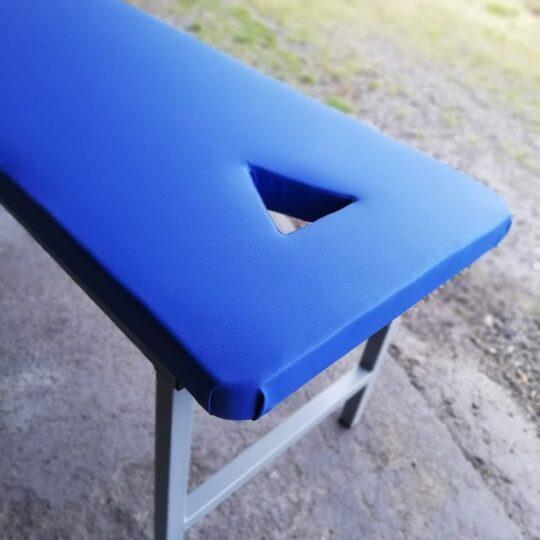 Pat masaj PRO-Therapy tapiterie albastra decupaj de fata