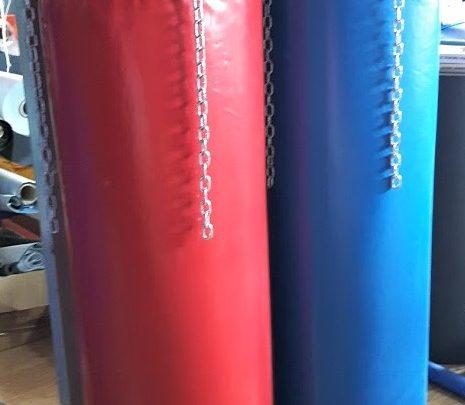 saci box fara umplutura de culoarea rosie si albastra