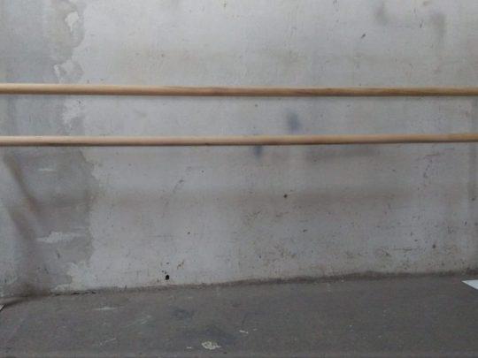 consola balet fixare pe pardoseala, doua bucati cu bara de balet
